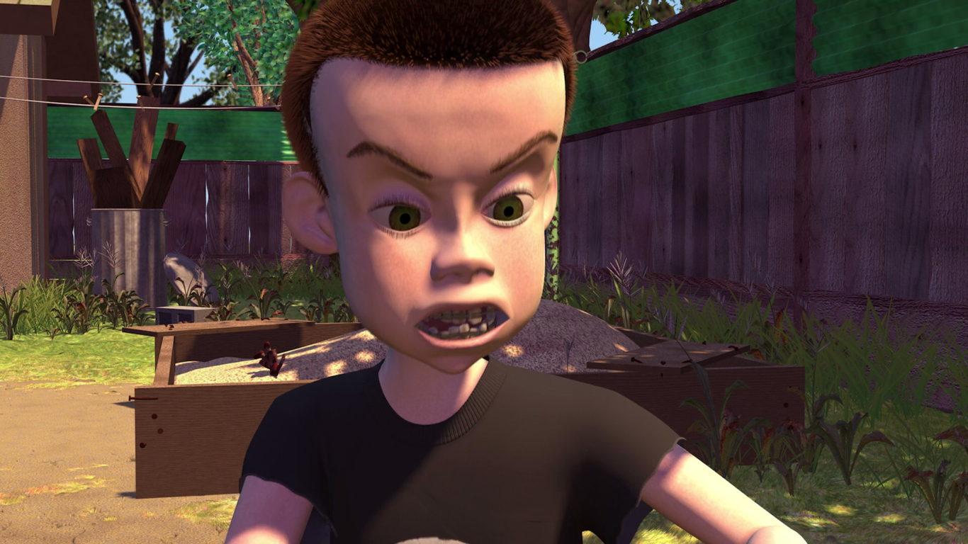 ... animada de Disney Pixar de 1995 Toy Story y un cameo en Toy Story 3. Él  es la única persona conocida que llega a conocer que los juguetes cobran  vida. 4c048fed297