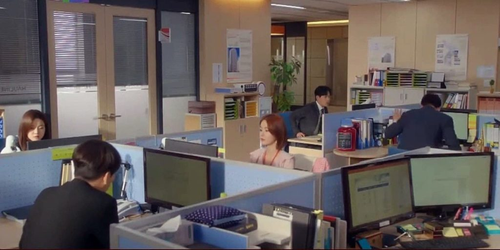 una radiante oficina