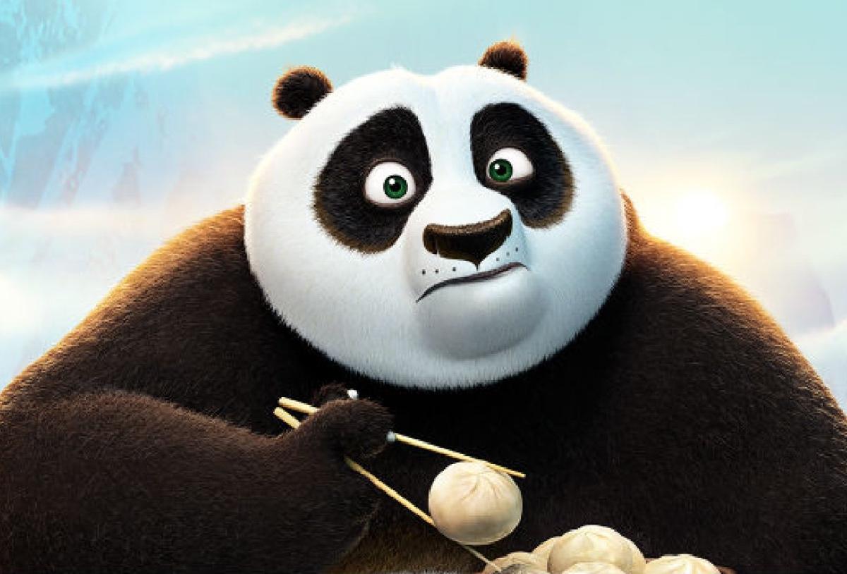 kung fu panda: comiendo