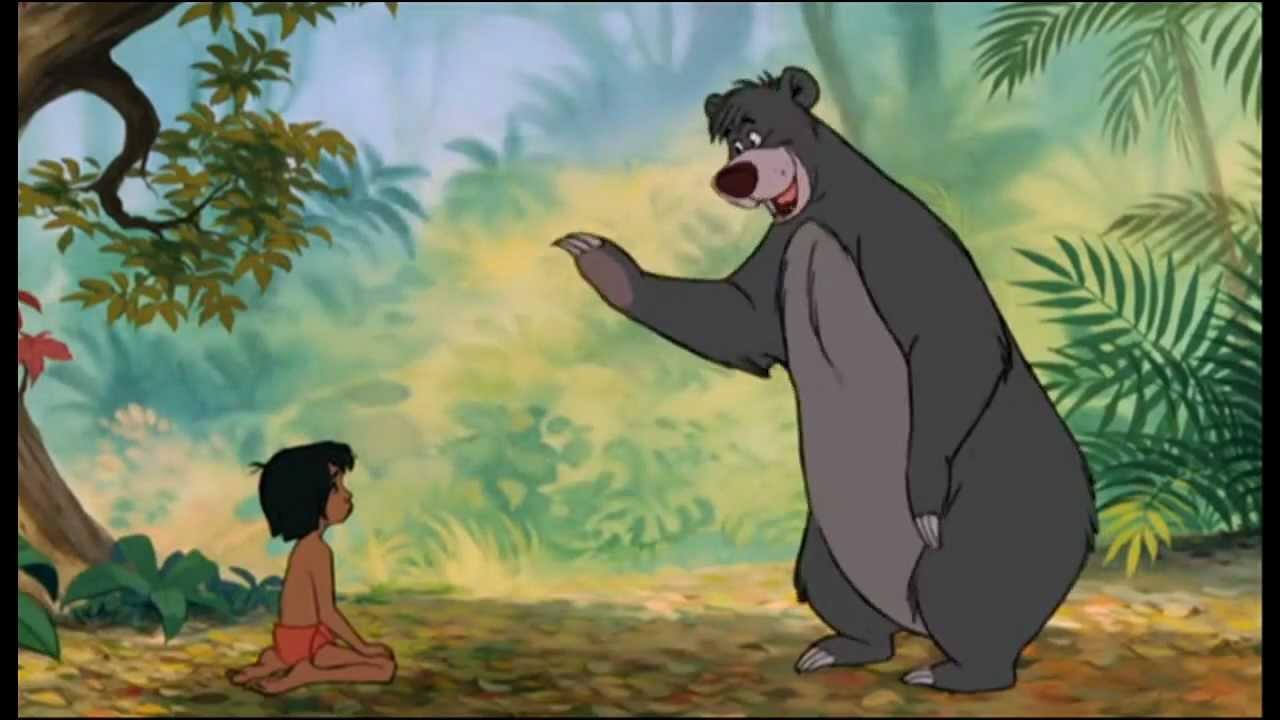oso baloo: oso y mowgli